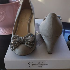 Jessica Simpson Embellished bow shoes